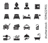 hotel icons set 1. | Shutterstock .eps vector #539622901