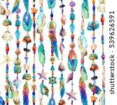 watercolor jewellery with sea... | Shutterstock . vector #539626591