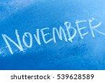 frozen glass with an... | Shutterstock . vector #539628589