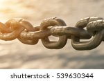 old metal chain on water... | Shutterstock . vector #539630344