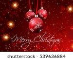 merry christmas wallpaper | Shutterstock . vector #539636884