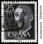spain   circa 1961  a stamp... | Shutterstock . vector #53964199