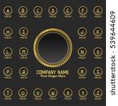 a to z set luxury logos... | Shutterstock .eps vector #539644609