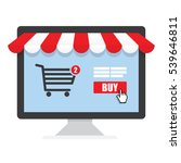 online shopping process buying...   Shutterstock .eps vector #539646811