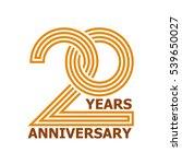 20 years anniversary symbol... | Shutterstock .eps vector #539650027