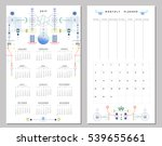 calendar 2017 and monthly... | Shutterstock .eps vector #539655661