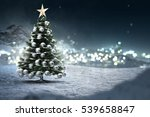 christmas tree in the snow | Shutterstock . vector #539658847