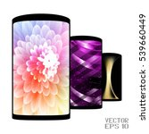 set of realistic smartphones... | Shutterstock .eps vector #539660449