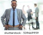 peaceful african american... | Shutterstock . vector #539669959