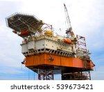 offshore oil rig drilling... | Shutterstock . vector #539673421