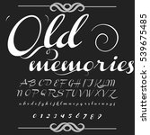 hand drawn typeface set named... | Shutterstock .eps vector #539675485