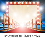 red carpet background with... | Shutterstock .eps vector #539677429