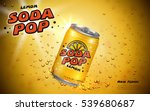 lemon soda pop ads  soft drink... | Shutterstock .eps vector #539680687