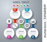 infographics template five... | Shutterstock .eps vector #539680849