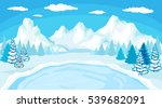 beautiful christmas winter flat ... | Shutterstock .eps vector #539682091