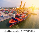 container container ship in... | Shutterstock . vector #539686345