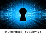 safety concept  closed padlock... | Shutterstock . vector #539689495