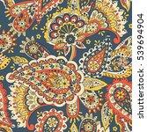 paisley seamless pattern.... | Shutterstock . vector #539694904