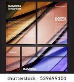 corporate identity template set.... | Shutterstock .eps vector #539699101