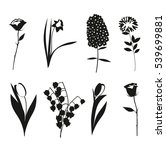 Black And White Flowers Icons...