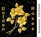 Golden Roses Bouquet  Three...