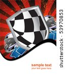 racing sign on the ray... | Shutterstock .eps vector #53970853