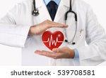 hands doctor protect heart... | Shutterstock . vector #539708581