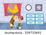 kids learning in the room | Shutterstock .eps vector #539715691