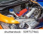 Small photo of Gasoline engine modified with turbocharger system, titanium pipe systems on modify car