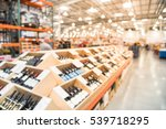 blurred image aisle of bottles...   Shutterstock . vector #539718295