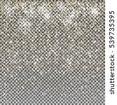 vector gold snow glitter... | Shutterstock .eps vector #539735395