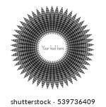 decorative  unusual  round... | Shutterstock .eps vector #539736409