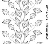 monochrome seamless pattern... | Shutterstock .eps vector #539750605