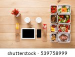 healthy restaurant food mockup. ... | Shutterstock . vector #539758999