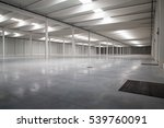 empty logistic hall | Shutterstock . vector #539760091