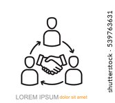line icon  meeting | Shutterstock .eps vector #539763631