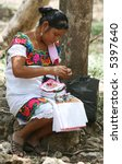 A Mayan Woman Making Decorativ...