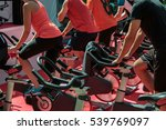 group of boys and girls at gym  ... | Shutterstock . vector #539769097