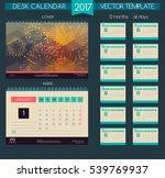 design desk calendar 2017. | Shutterstock .eps vector #539769937