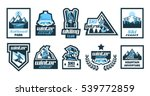 set logos  stickers  posters on ... | Shutterstock .eps vector #539772859