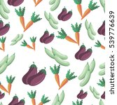 vector vegetables pattern.... | Shutterstock .eps vector #539776639