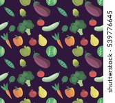 vector vegetables pattern.... | Shutterstock .eps vector #539776645