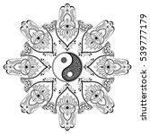 vector henna tatoo mandala.yin... | Shutterstock .eps vector #539777179