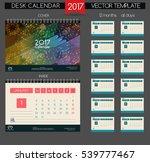 design desk calendar 2017. | Shutterstock .eps vector #539777467