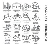 business management icons in... | Shutterstock . vector #539779084