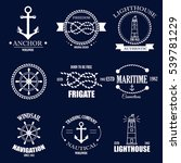 set of vintage retro nautical... | Shutterstock .eps vector #539781229