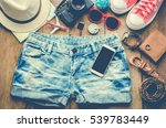 jeans  shorts and travel... | Shutterstock . vector #539783449