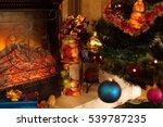 stacks of christmas presents... | Shutterstock . vector #539787235