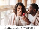 amazed african american couple... | Shutterstock . vector #539788825