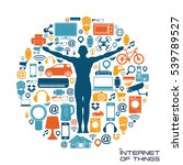 internet of things vector... | Shutterstock .eps vector #539789527